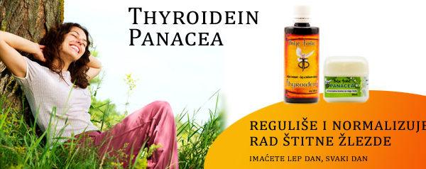 """Štitna (štitasta ili tireoidna) žlezda je jedna od najvećih endokrinih žlezda koja pomoću svojih hormona tironin i tiroksin reguliše metabolizam ostalih organa. Nalazi se u prednjem delu vrata ispred grkljana i dušnika, a ima oblik štita ili leptira sa raširenim krilima. Za pravilno funkcionisanje štitne žlezde veoma je važan jod koji se preuzima iz krvotoka. Štitna žlezda proizvodi i hormon kalcitonin, koji učestvuje u regulaciji koncentracije kalcijuma u organizmu. Štitna žlezda reguliše metabolizam ostalih tkiva tako što ga ubrzava ili usporava pa se zato kaže da neki ljudi imaju """"brz"""" odnosno """"spor"""" metabolizam. Za organizam nije dobar ni uvećan ni smanjen rad štitne žlezde. Pošto naziv štitne žlezde potiče od starogrčke reči tyreos što znači štit, štitna žlezda se ponekad naziva i tireoidna žlezda. Njen latinski naziv je glandula thyreoidea."""